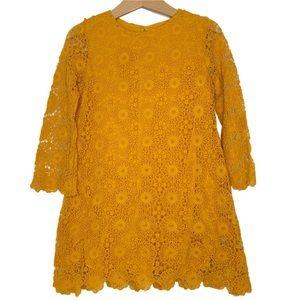 Zara Mustard Lace Dress